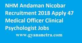 NHM Andaman Nicobar Recruitment 2018