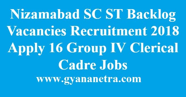 Nizamabad SC ST Backlog Vacancies Recruitment