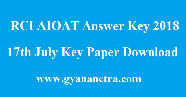 RCI AIOAT Answer Key