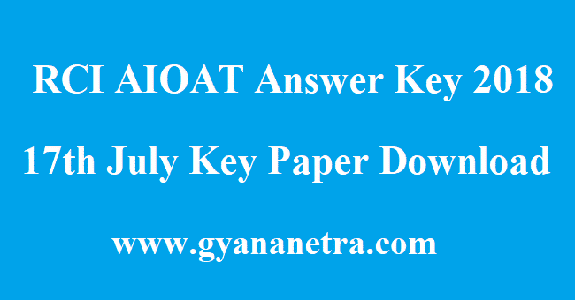 RCI AIOAT Answer Key