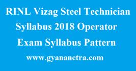 RINL Vizag Steel Operator Syllabus
