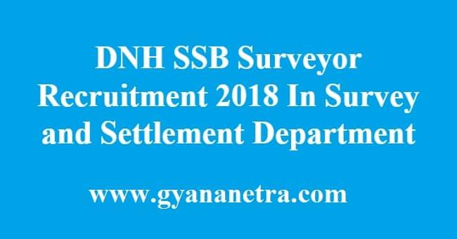 DNH SSB Surveyor Recruitment
