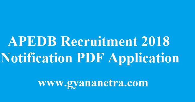 APEDB Recruitment 2018