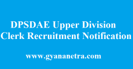 DPSDAE Recruitment 2018