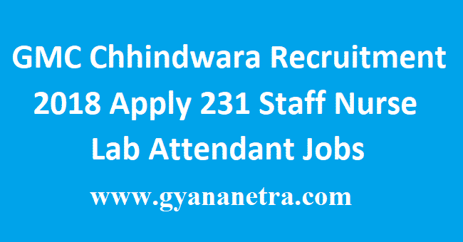 GMC Chhindwara Recruitment