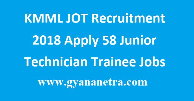 KMML JOT Recruitment