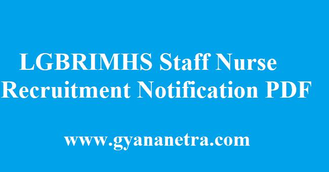 LGBRIMHS Staff Nurse Recruitment 2018