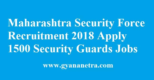 Maharashtra Security Force Recruitment