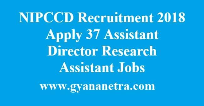 NIPCCD Recruitment
