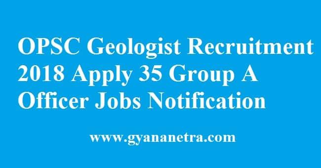 OPSC Geologist Recruitment