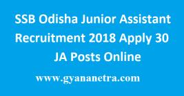 SSB Odisha Junior Assistant Recruitment
