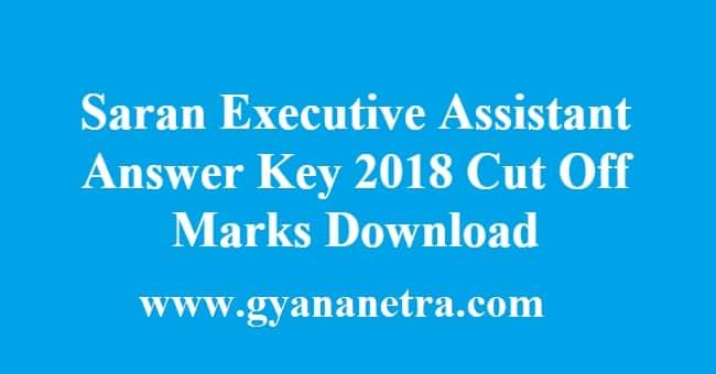 Saran Executive Assistant Answer Key