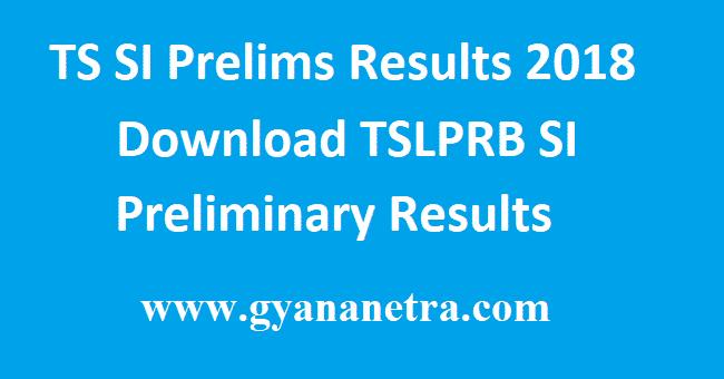 TS SI Prelims Results
