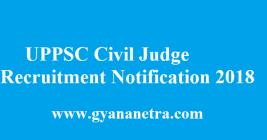 UPPSC Civil Judge Recruitment 2018
