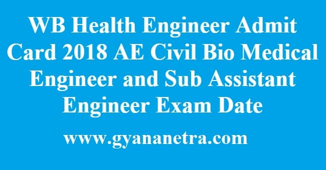 WB Health Engineer Admit Card