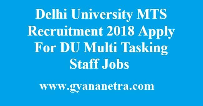 Delhi University MTS Recruitment