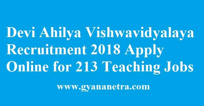 Devi Ahilya Vishwavidyalaya Recruitment