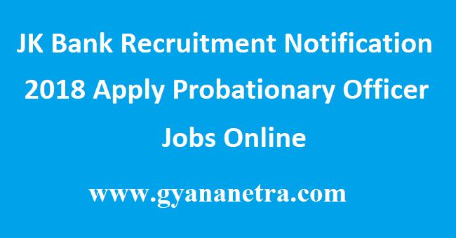 JK Bank Recruitment Notification
