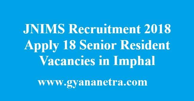 JNIMS Recruitment
