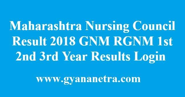 Maharashtra Nursing Council Result