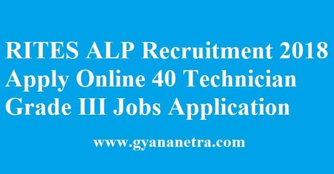 RITES ALP Recruitment