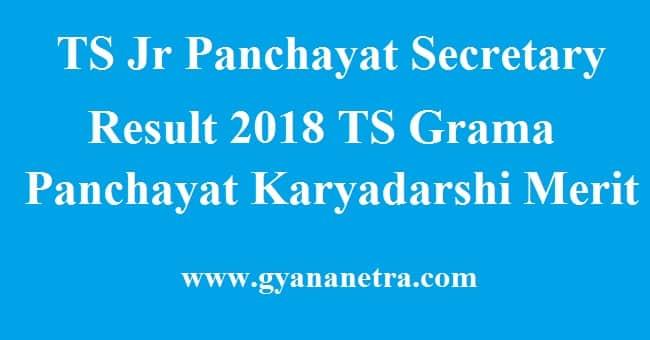 TS Junior Panchayat Secretary Result 2018 TS Grama Panchayat