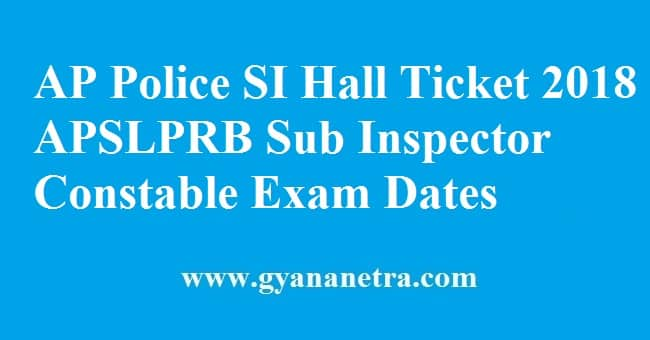 AP Police SI Hall Ticket