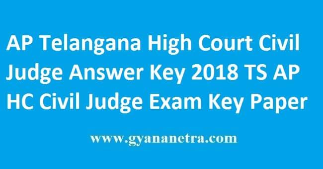 AP Telangana High Court Civil Judge Answer Key