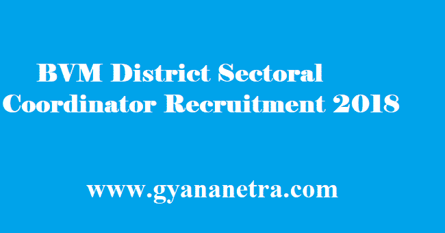 BVM District Sectoral Coordinator Recruitment 2018