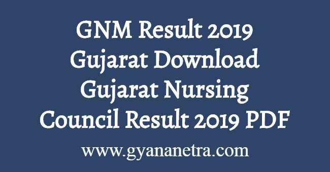 GNM Result 2019 Gujarat
