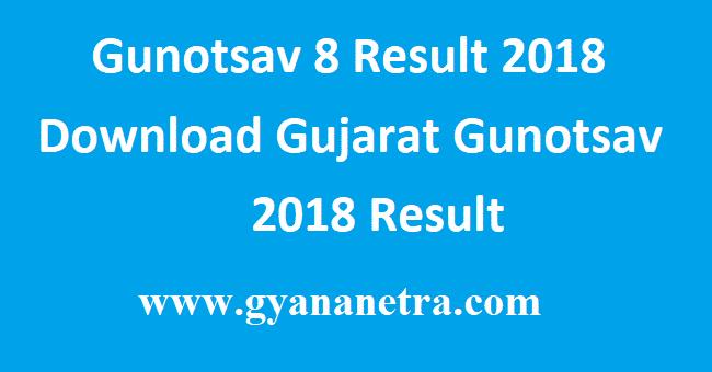 Gunotsav 8 Result 2018