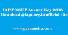 IAPT NSEP Answer Key 2018