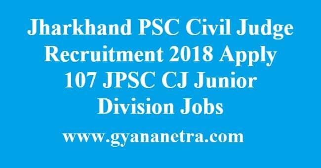 Jharkhand PSC Civil Judge Recruitment