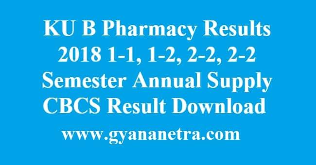 KU B Pharmacy Results