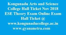 Kongunadu Arts and Science College Hall Ticket