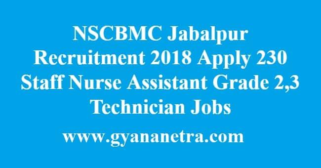 NSCBMC Jabalpur Recruitment