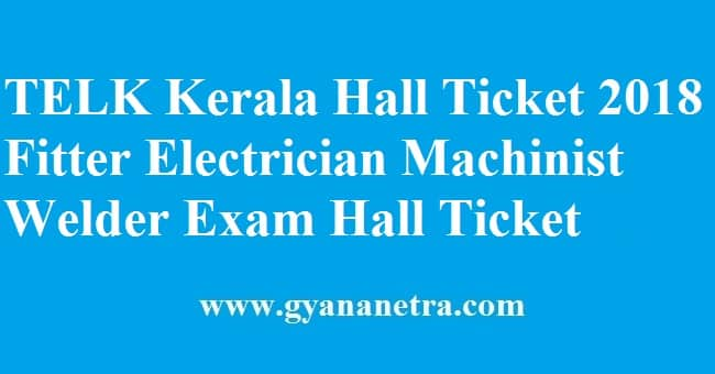 TELK Kerala Hall Ticket