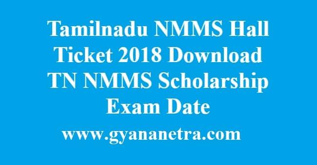 Tamilnadu NMMS Hall Ticket