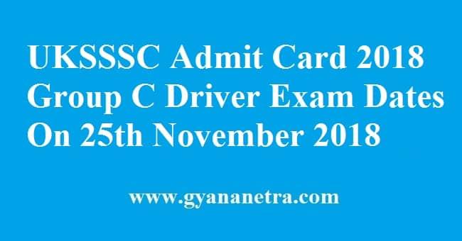 UKSSSC Admit Card