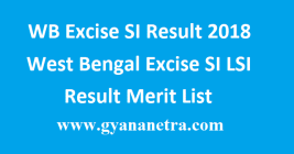 WB Excise SI Result 2018