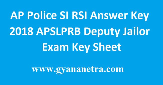 AP Police SI RSI Answer Key