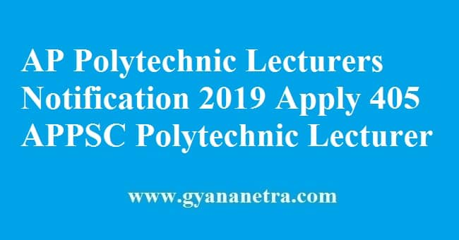 AP Polytechnic Lecturers Notification