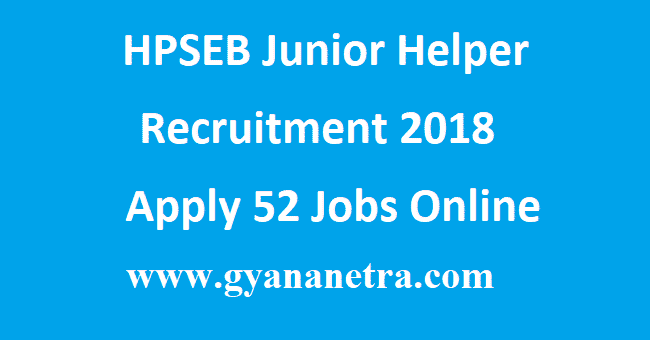 HPSEB Junior Helper Recruitment