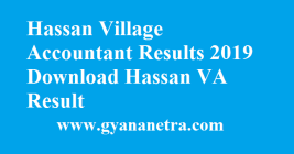 Hassan Village Accountant Results