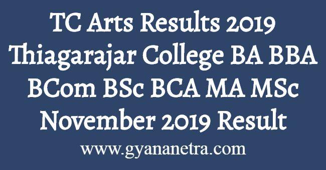 TC Arts Results 2019