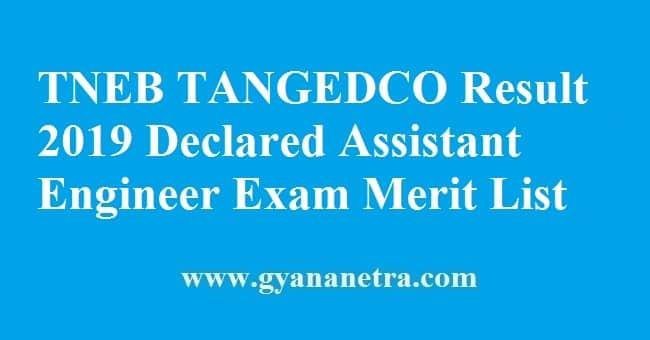 TNEB TANGEDCO Result