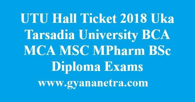 UTU Hall Ticket