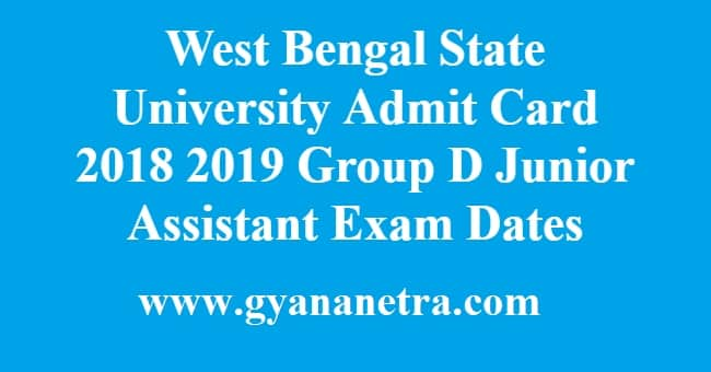 West Bengal State University Admit Card