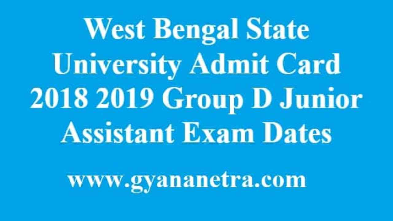 West Bengal State University Admit Card 2018 2019 WBSU Group