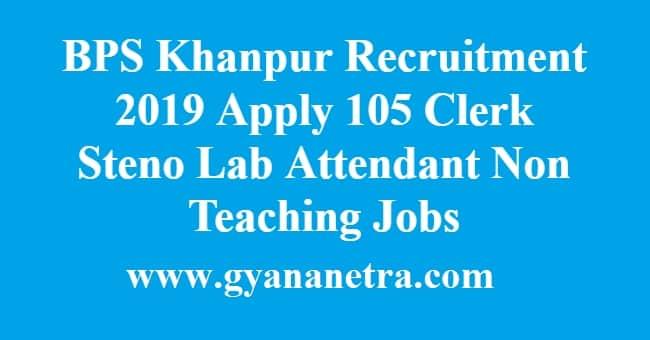 BPS Khanpur Recruitment